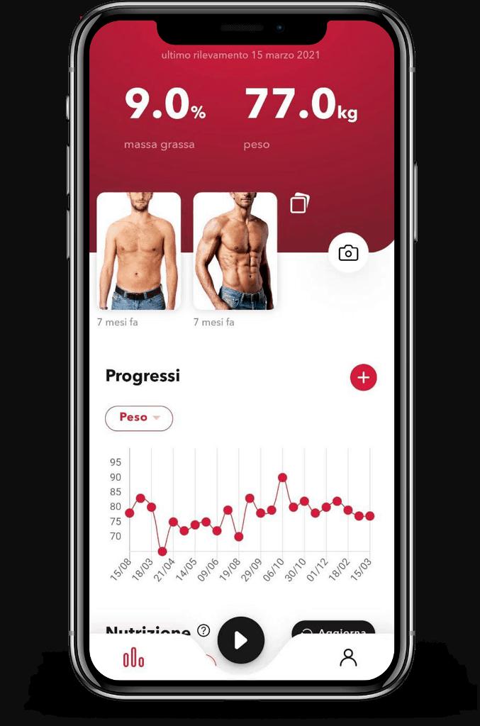 schermata progressi cliente app REVOO