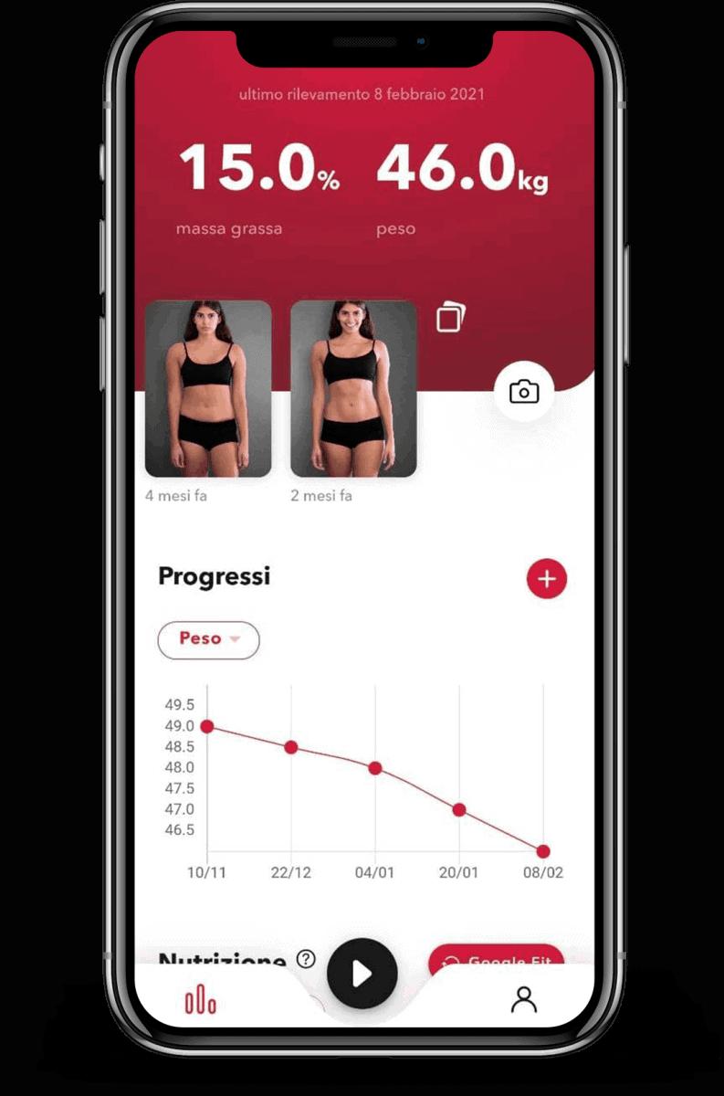 schermata progressi sull'app REVOO