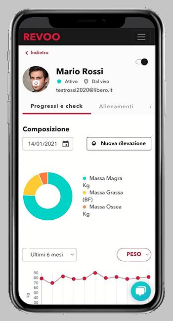 Schermata cliente app REVOO PT